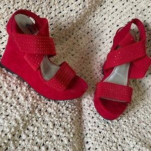 Woman's Red Heels Wedges